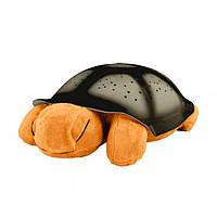 Ночник-проектор черепаха, желтый