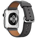 Кожаный ремешок Primo Bent Buckle для Apple Watch 38mm / 40mm - Black, фото 2