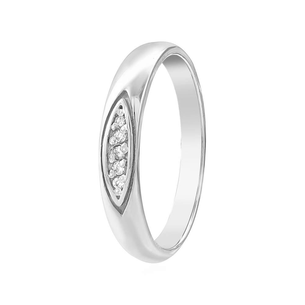 Кольцо  с цирконами, белое золото, КД0504/1 Eurogold