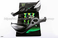 Защита рук захист Monster на мотоцикл эндуро, кросс, мотард, ATV мото (Черная)