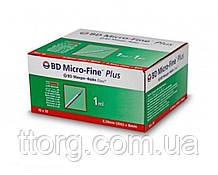 Шприцы БД Микро-Файн Плюс /BD Micro-Fine Plus 1 мл (0,3 мм х 8 мм) для U-40 инсулина