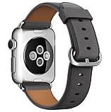 Кожаный ремешок Primo Bent Buckle для Apple Watch 42mm / 44mm - Black, фото 2