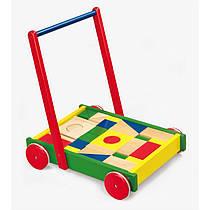 Ходунки каталка тележка скубиками Viga Toys 50306