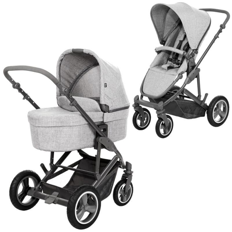Универсальная коляска 2 в 1 ABC Design Catania 4 Air Woven Grey, цвет  серый