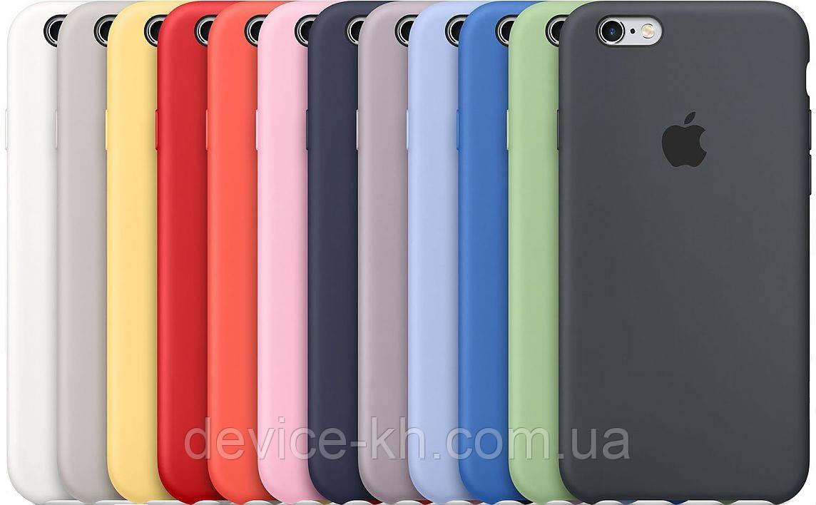 Силиконовый чехол на Айфон Silicone Case На Любой iPhone 5 / 6 / 6 Plus / 7 / 7 Plus / 8 / X / XS / XR /XS Ma