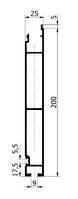 Нижняя планка бортового профиля 200мм