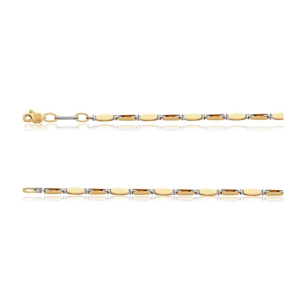 Цепь из комбинированного золота, Ц056/2 Eurogold