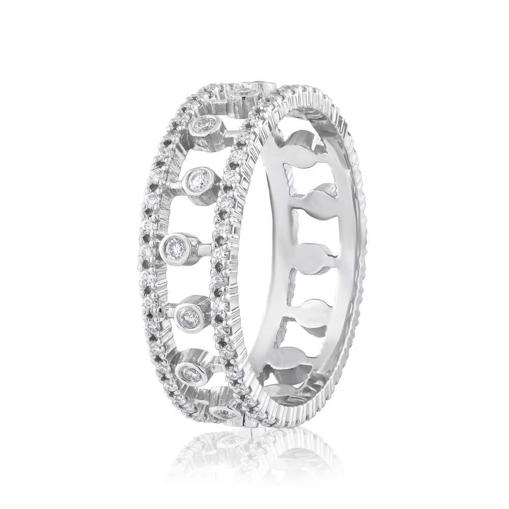 Кольцо из белого золота с бриллиантами, КД7589/1 Eurogold