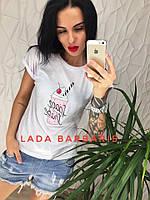 """Женская стильная летняя футболка """"Space Share"""", фото 1"""