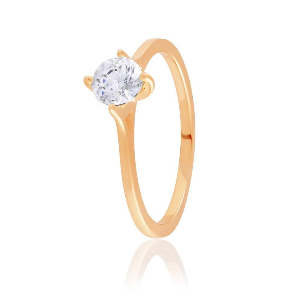 Кольцо золотое с камнем SWAROVSKI Zirconia, КД4202SW Eurogold