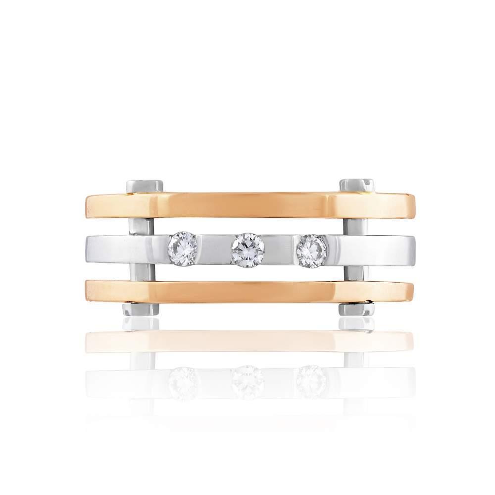 уольцо КОА7138 с бриллиантом, комбинированное золото Eurogold