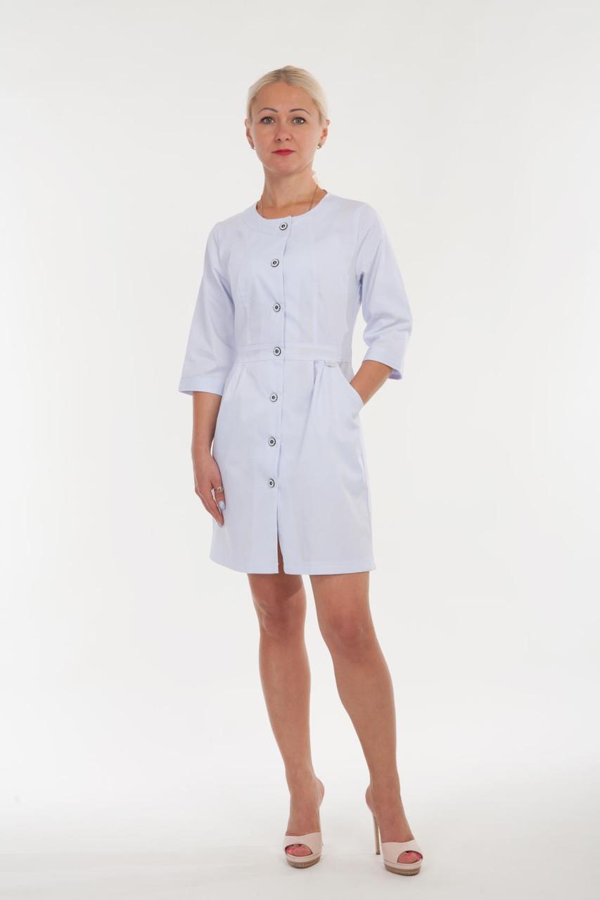 Медицинский женский халат белого цвета