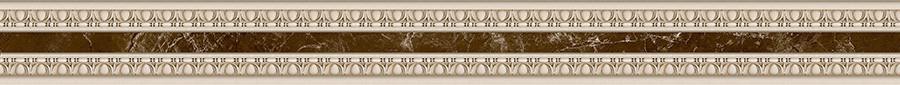 EMPERADOR Фриз узкий коричневый Барельеф/БУ 66 031