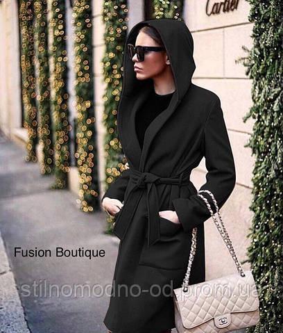 Пальто на подкладке с капюшономот Стильномодно