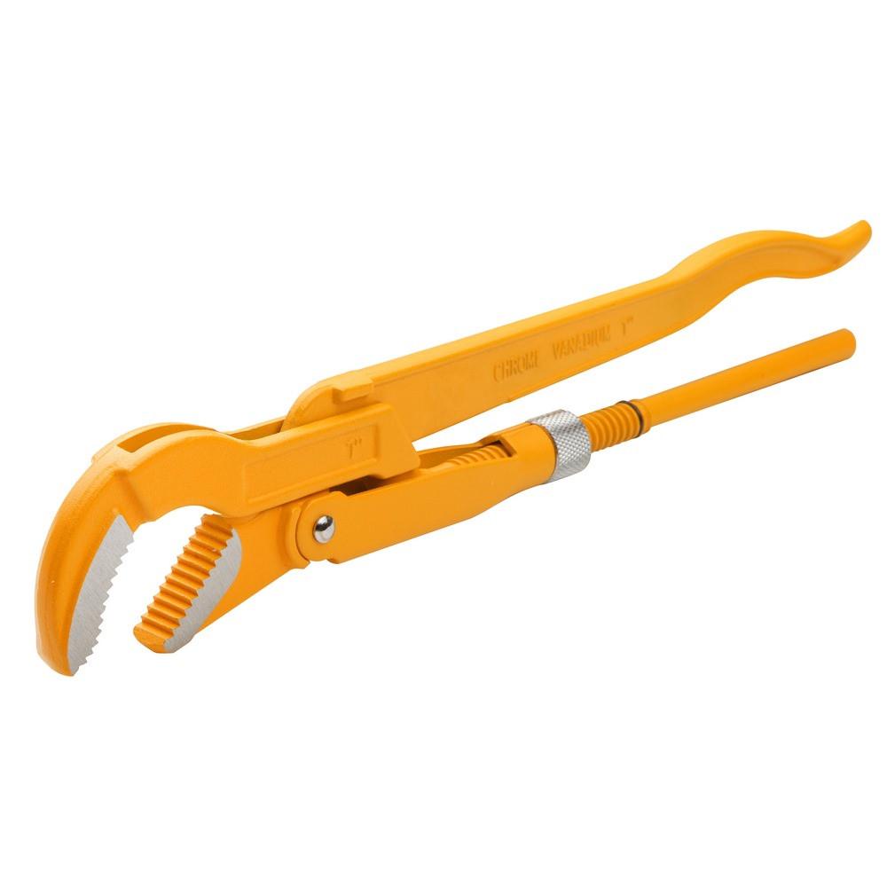 """Ключ трубный Tolsen 45 градусов 2"""" рычажный Cr-V  Dmax 67 мм (10258)"""