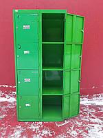 Камера хранения для вещей, ячейки для супермаркета на 8 ячеек, зеленая Б/у, фото 1