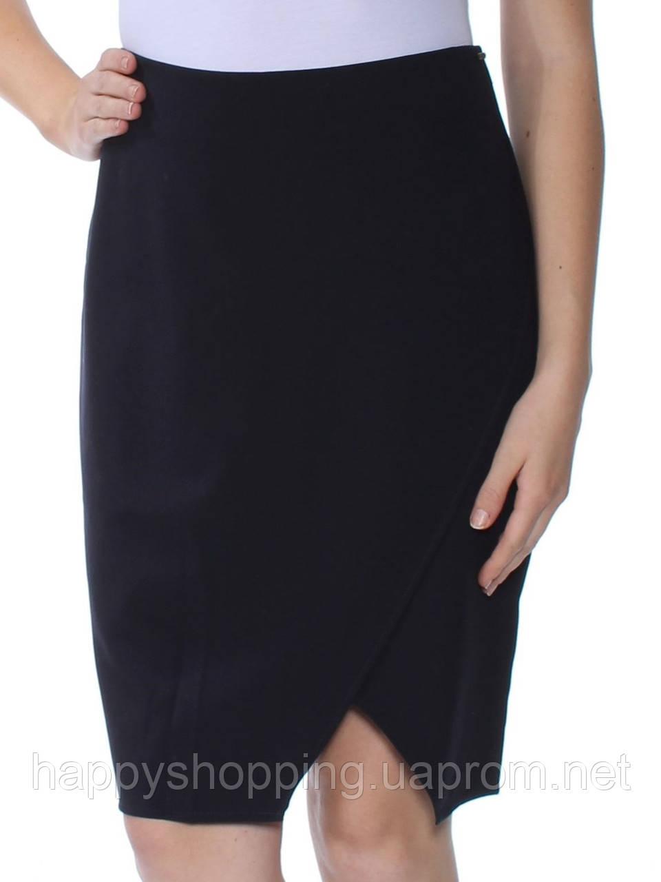 Женская оригинальная темно-синяя юбка популярного бренда DKNY