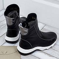 Кожаные ботинки от украинского производителя женской обуви