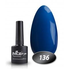 Гель-лак Nice for you № 136 (королевский синий), 8,5 мл