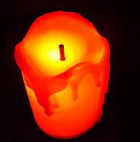 Led свічка  5*3,5 см  .  з батарейками  світло  жовте  ., фото 1