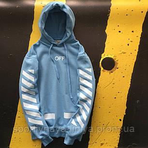 Худи  OFF WHITE • Blue • Унисекс • Ориг. бирки • Люкс реплика, фото 2