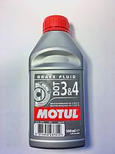 Тормозная жидкость DOT4, 500 мл, Motul.
