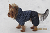 """Комбинезон зимний, костюм """"Звездопад"""" для собаки. Одежда для собак, фото 8"""