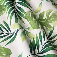 Декоративная ткань зеленые листья тропических растений Испания 83354v1