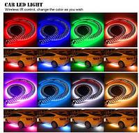 🏎 🔊 Подсветка для дна и салона автомобиля RGB + режим светомузыки  2 ленты по 60 см 2 по 90 см