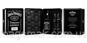Виски Jack Daniels 40% 0.7л + 2 бокала в металлической коробке, фото 2