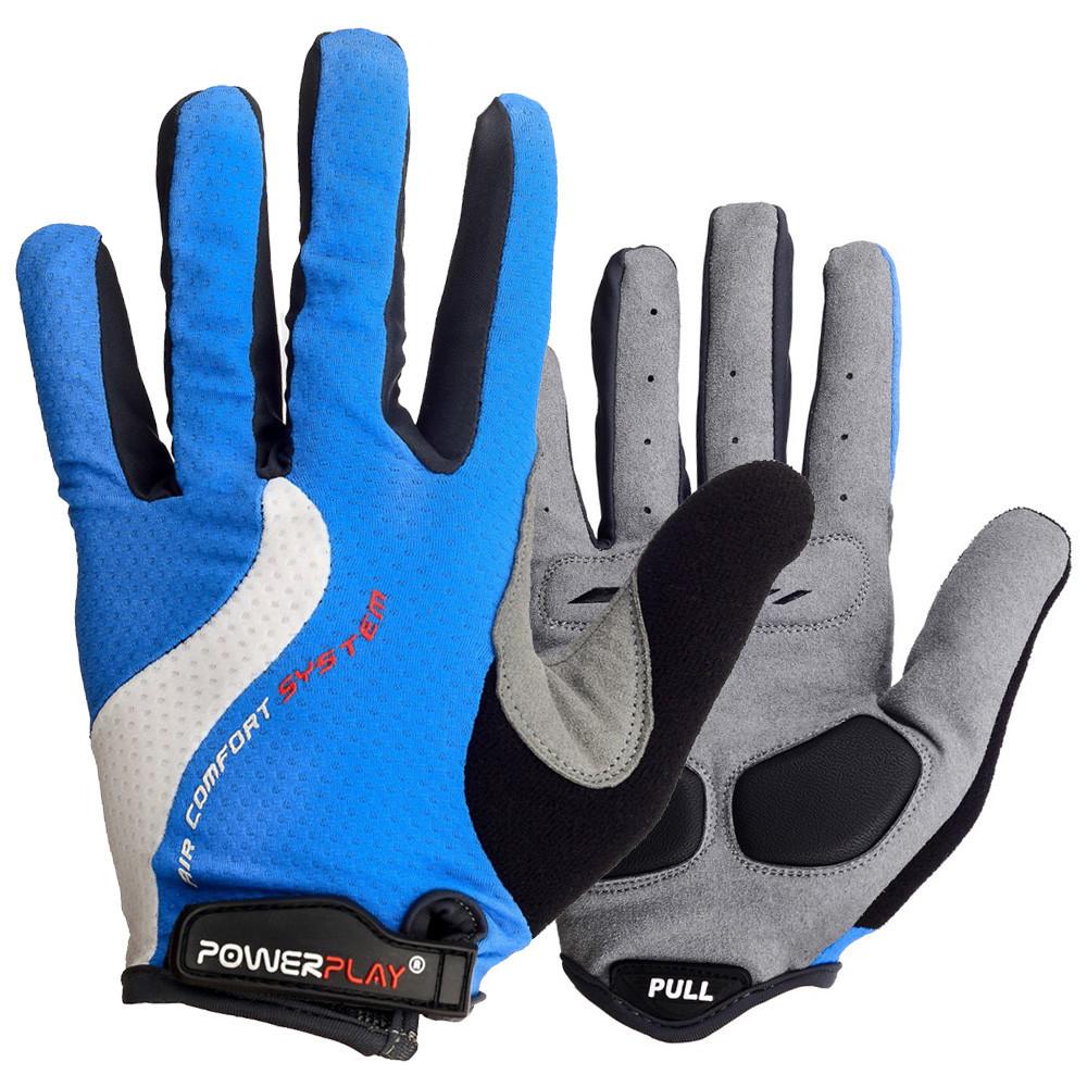 Велоперчатки PowerPlay 6554 A Синие S