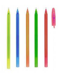 Ручка масляна Optima FLAME. Корпус асорті. Пише синім.
