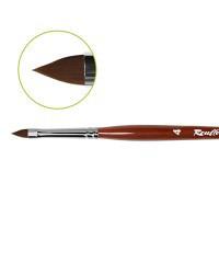 Кисть плоская Roubloff для гелевого дизайна, «Лепесток» №4, (GN93R)