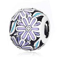Серебряная подвеска-шарм Шар с цветами Silvex925 П5/750 Eurogold