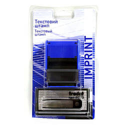 Штамп самонаборной на 4 строки, касса букв UKR./RUS, пинцет, Trodat Imprint 8912