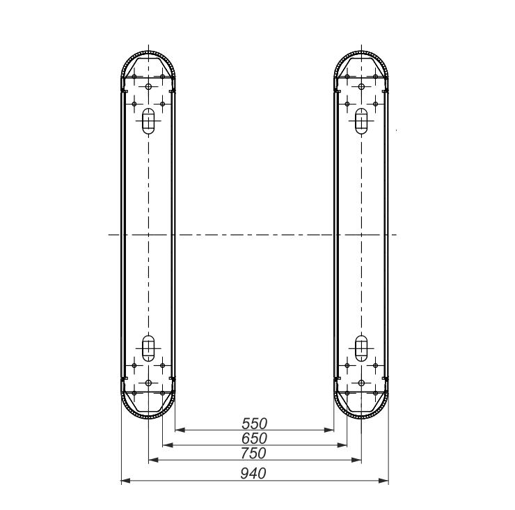 Увеличение ширины прохода для турникетов SWEEPER и SWEEPER S (не более 900 mm)