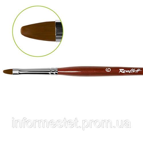 Кисть овальная Roubloff для гелевого дизайна №6, (GN33R6)