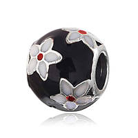 Серебряная подвеска-шарм Шар с цветами Silvex925 П5Ч/751 Eurogold