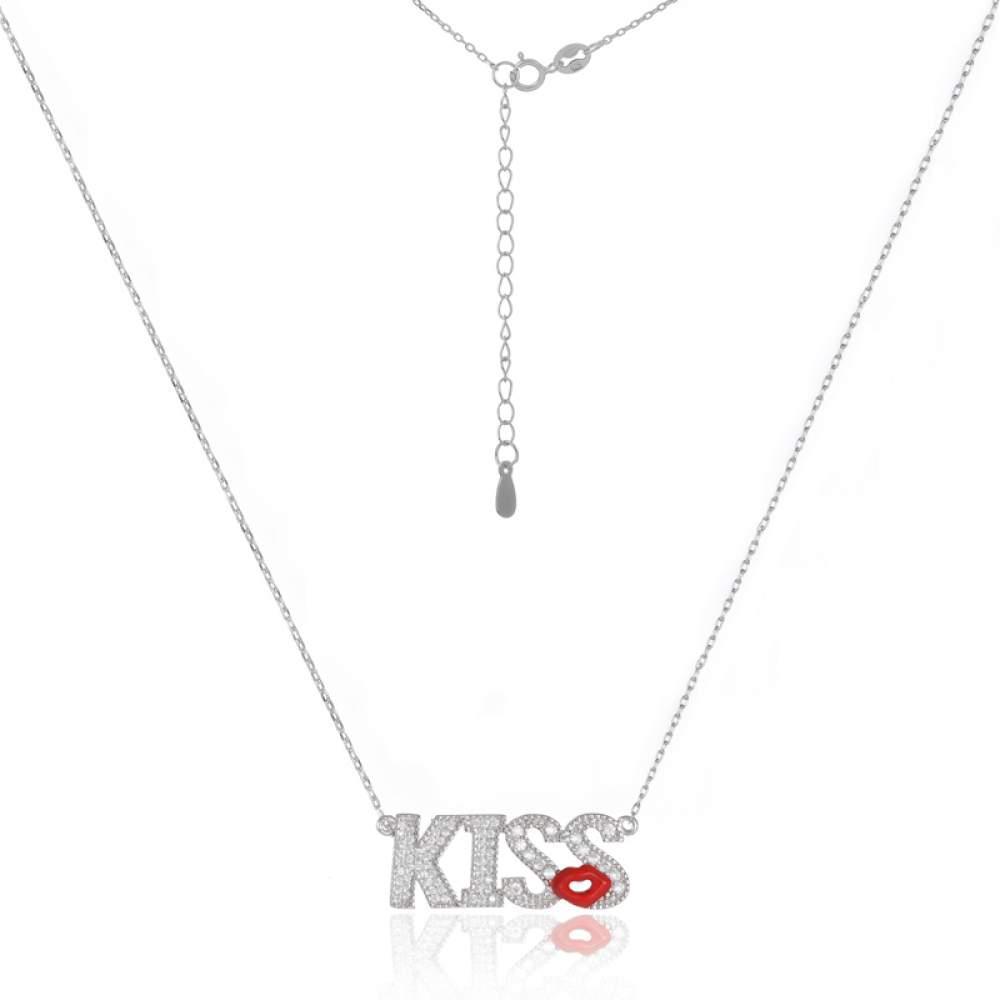 Серебряное колье Silvex925 Kiss Кл2Ф/813 Eurogold