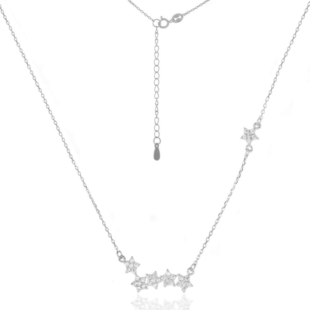 Серебряное колье Silvex925 с фианитом Кл2Ф/818 Eurogold