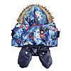 "Комбинезон зимний, костюм ""Сакура Blue"" для собаки. Одежда для собак, фото 2"