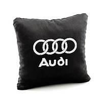 Подушка з лого Audi чорний флок_склад