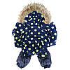 "Комбинезон зимний, костюм ""Сакура Blue"" для собаки. Одежда для собак, фото 5"