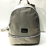 Міські рюкзаки кожзам БЛЬШОЙ (срібло)26*31см, фото 2