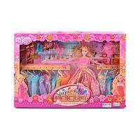 Кукла типа барби 29 см с нарядамииаксессуарами, платья, обувь, 3013-01