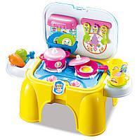 Детский игровой набор Кухонный гарнитур Kitchen Желтый (20181002V-1058)