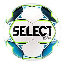 Мяч футзальный Select Futsal Super 2018 размер 4 Белый с синим (5703543186723)