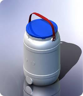 Бидон пластиковый 15 л пищевой, фото 2