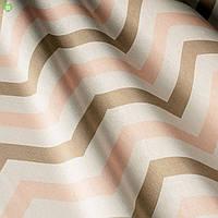 Шторная ткань хлопковая с зигзагообразными полосами тефлоном 82834v1