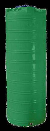 Ємність 1000 л вузька вертикальна двошарова зелена, фото 2